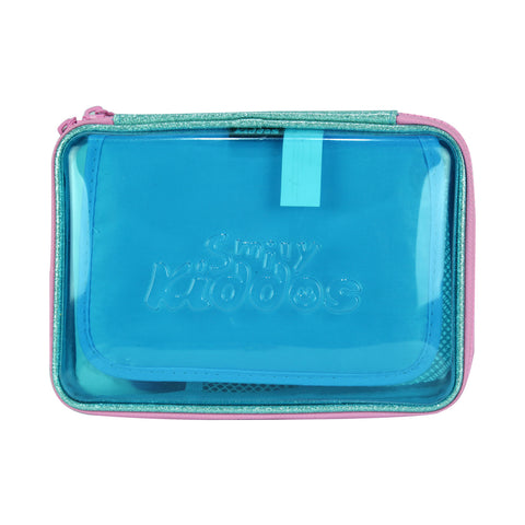 Smily Pvc Pencil Case Light Blue