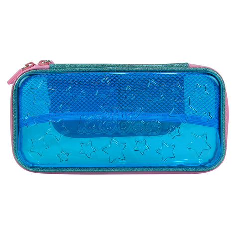 Image of Smily PVC Small Pencil Case Light Blue