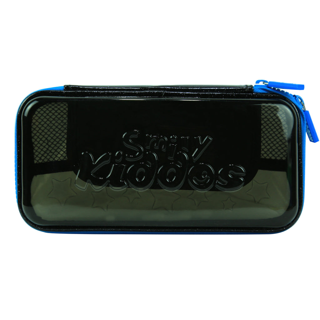 Smily PVC Small Pencil Case Black