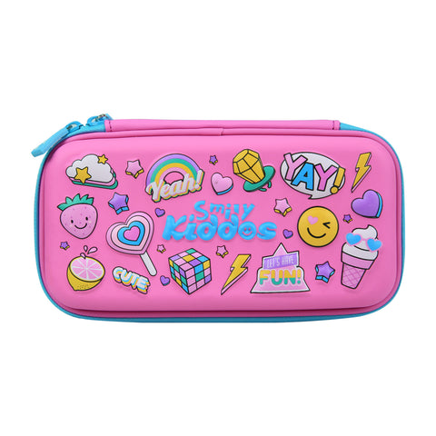 Smily Small Pencil Case Pink