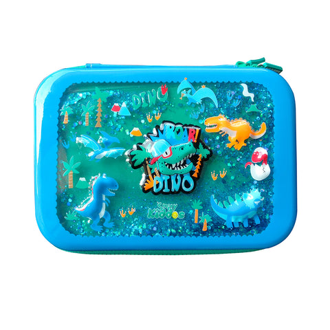 Smily Sparkle Pencil Case - Dino theme