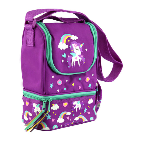 Smily Strap Lunch Bag (Purple)
