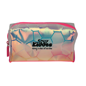 Smily Transparent Cosmetic Pouch Pink