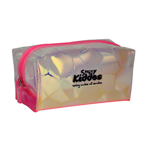 Image of Smily Transparent Cosmetic Pouch Pink
