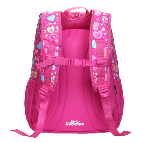 Smily U Shape Backpack ( Pink )