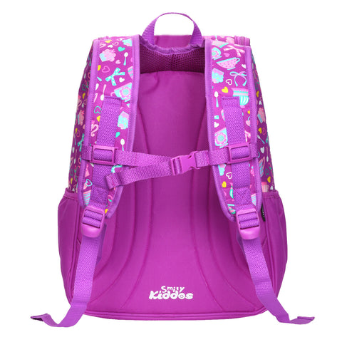 Smily U Shape Backpack ( Purple)