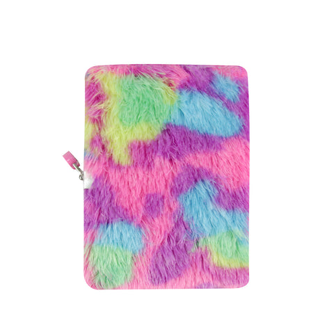 Smily Fluffy Lockable Notebook Magenta