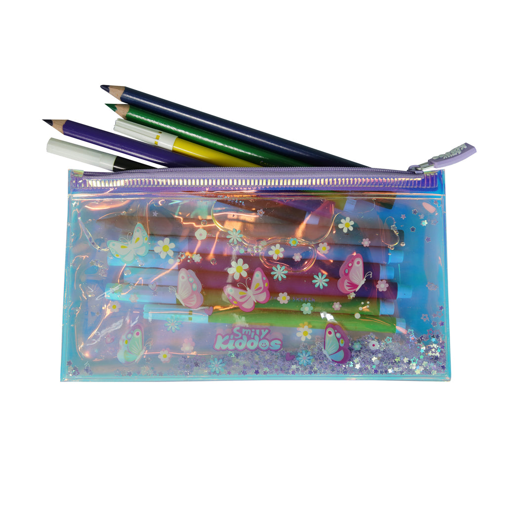 Smily glitter pencil pouch
