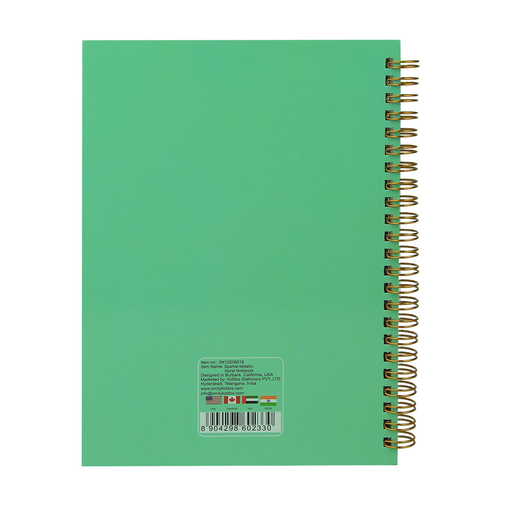 Twinkle Metallic Spiral Notebook ( Light Blue )