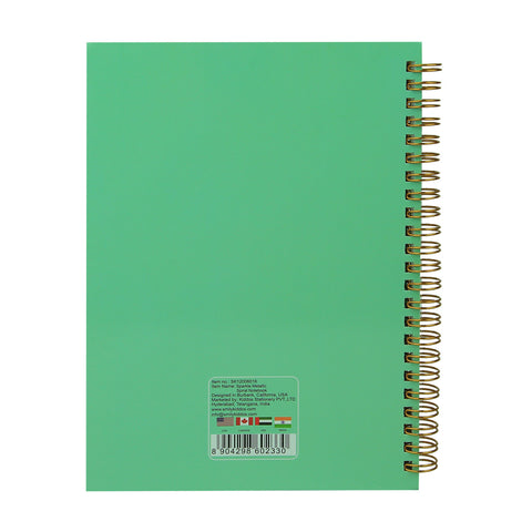 Image of Twinkle Metallic Spiral Notebook ( Light Blue )