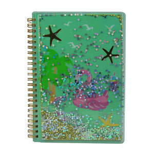 Twinkle Metallic Spiral Notebook Light Blue