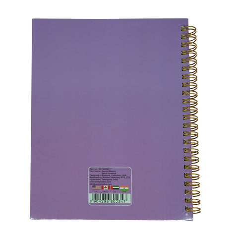 Twinkle Metallic Spiral Notebook Purple
