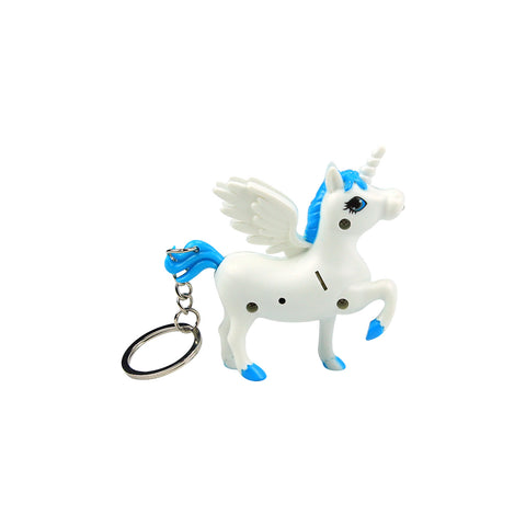 Smily Unicorn Keyring Light Blue