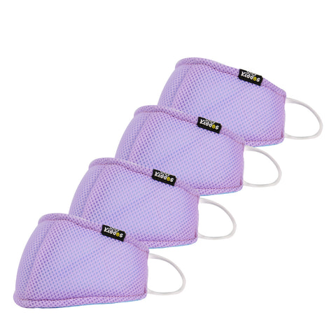 SMILY KIDDOS VALVE FACE MASK VIOLET ANTI-POLLUTION | ANTI-DUST | ANTI-BACTERIAL MASK
