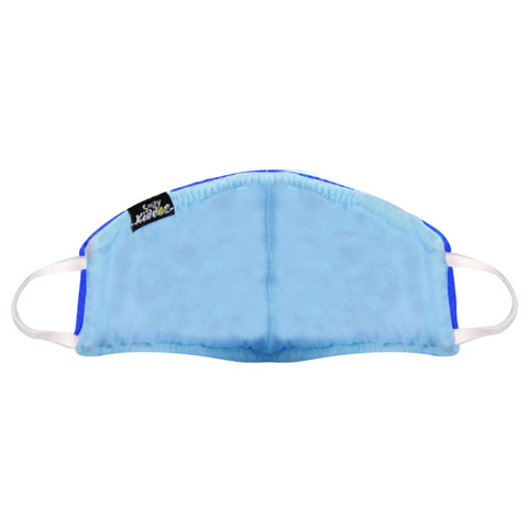 SMILY KIDDOS VALVE FACE MASK ROYAL BLUE ANTI-POLLUTION | ANTI-DUST | ANTI-BACTERIAL MASK