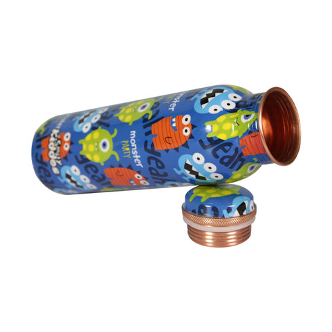 Image of Smily Kiddos Funny Monster Copper Water Bottle