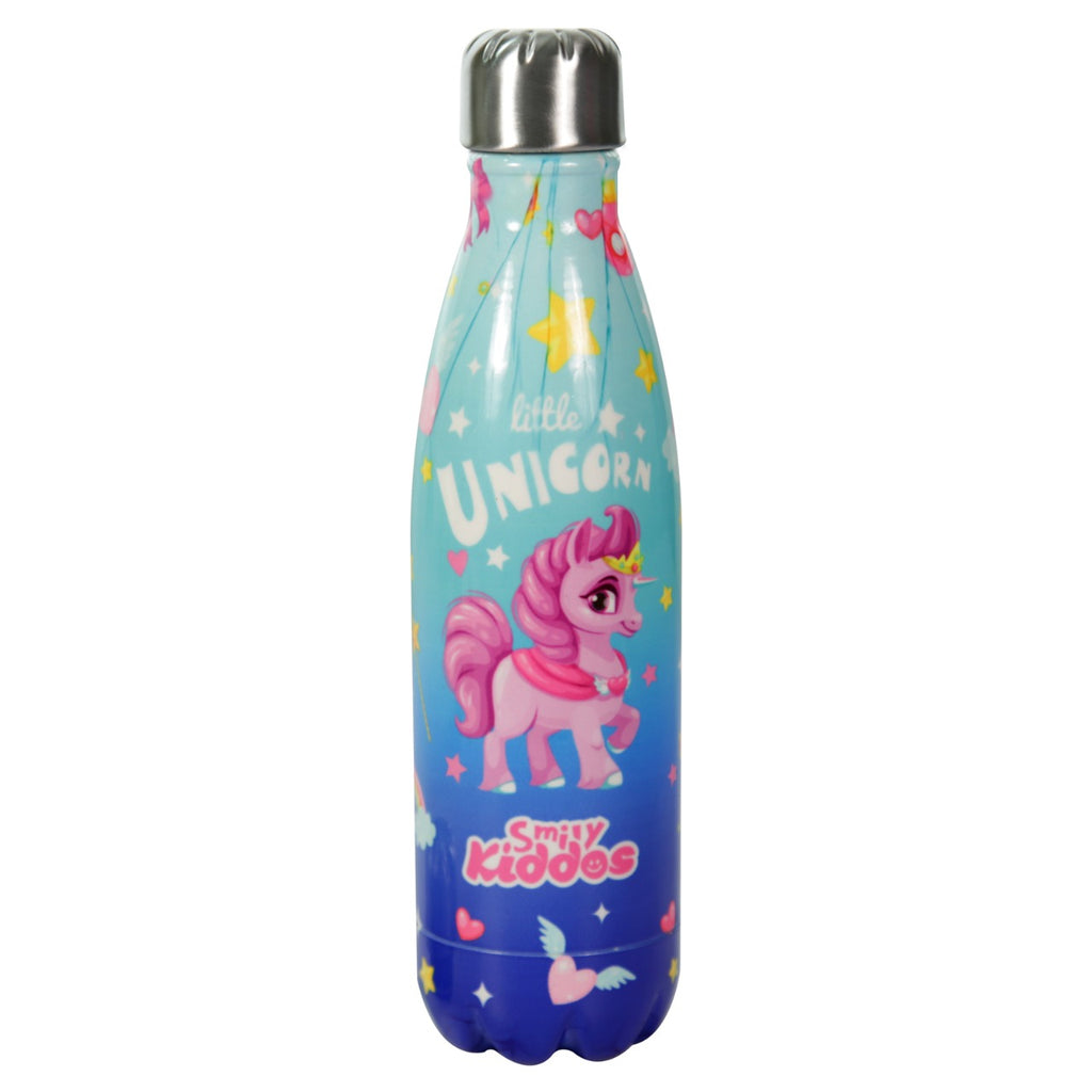 Smily Kiddos Water Bottle Blue-Unicorn Theme