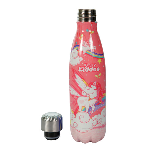 Image of Smily Kiddos Water Bottle Pink-Unicorn Theme