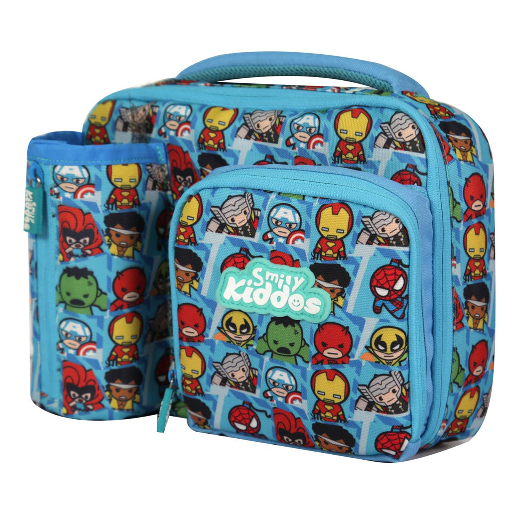 Smily Multi Compartment Lunch Bag Light Blue