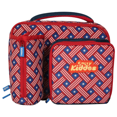 Image of Smily Multi Compartment Lunch Bag American Hero Theme