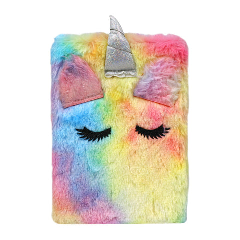 Image of Fluffy Unicorn Notebook - Pink