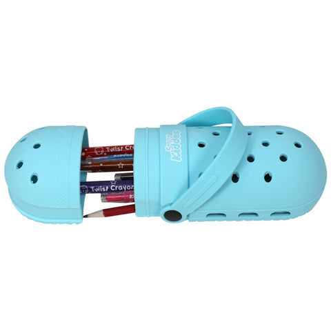 Image of Silicone shoe pencil case - Light blue