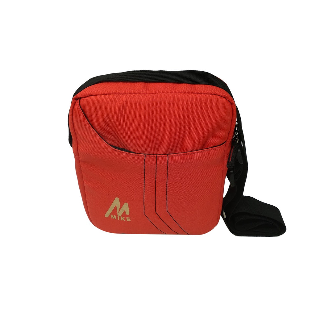 Mike Solid Messenger Bag -  Red
