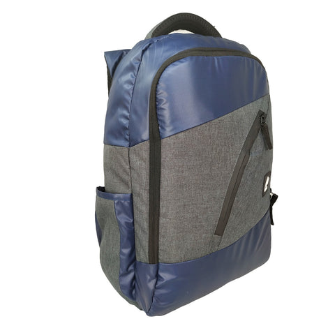 Image of Mike Hercules Laptop Backpack - Blue & Grey