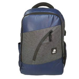 Mike Hercules Laptop Backpack - Blue & Grey