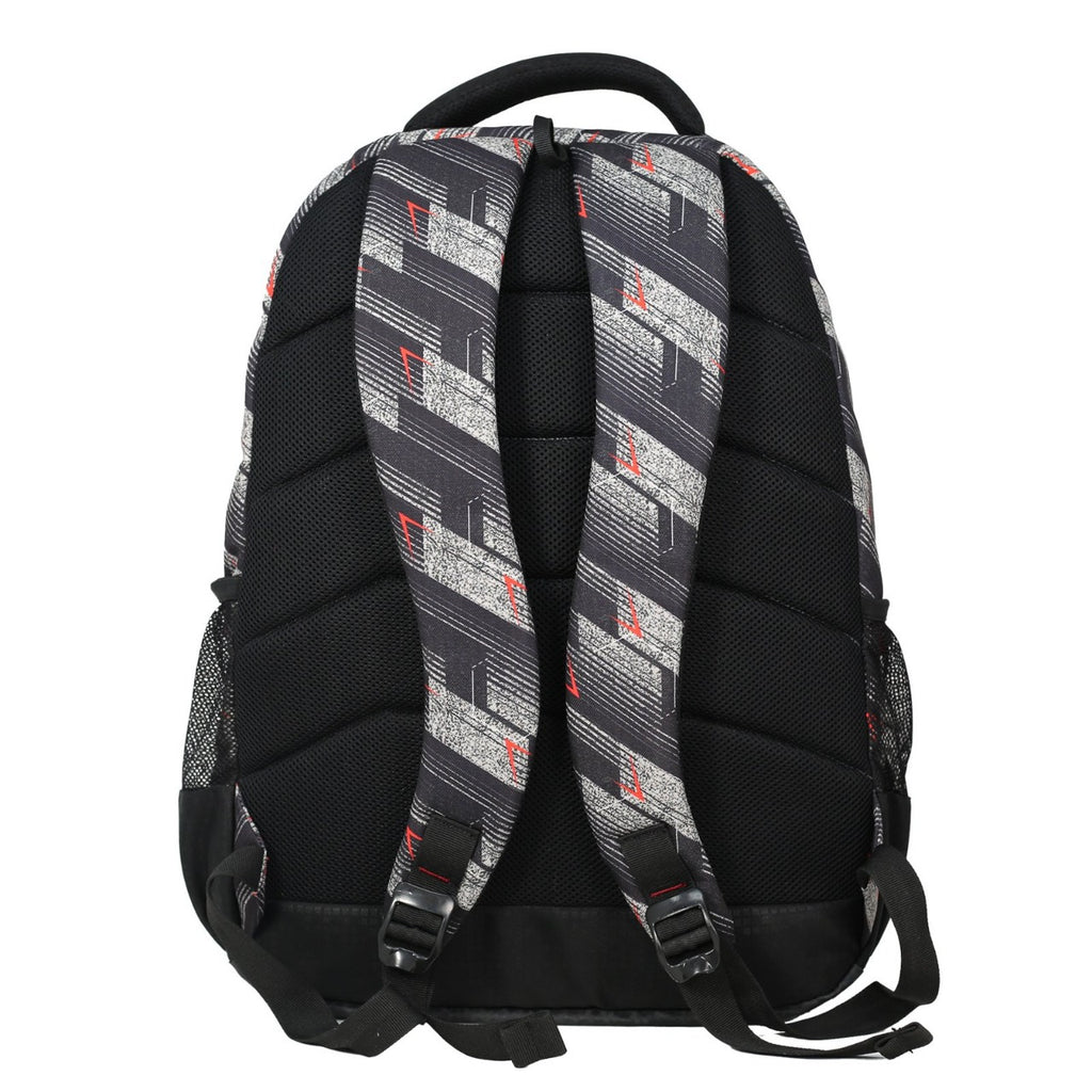 Mike Graphic Print Laptop Backpack - Black & Red