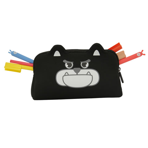 Angry Doggy Pencil Case Black