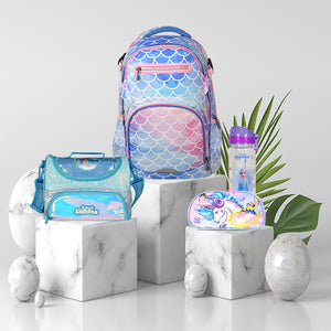 Smily Fancy Combo ( Elsa Lunch bag, Unicorn Pencil case, Elsa water bottle, Fancy Backpack)