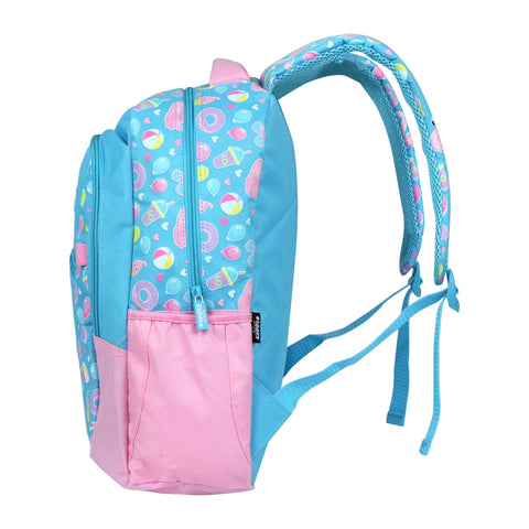 Image of Smily Dual Color Backpack Swan Theme (Light Blue)