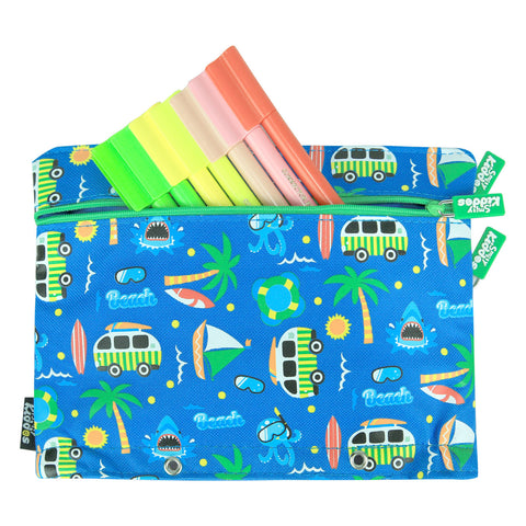 Fancy A5 Pencil Case Blue