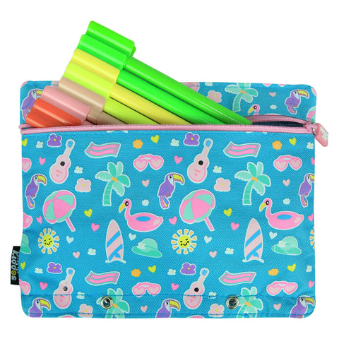 Image of Fancy A5 Pencil Case Light Blue