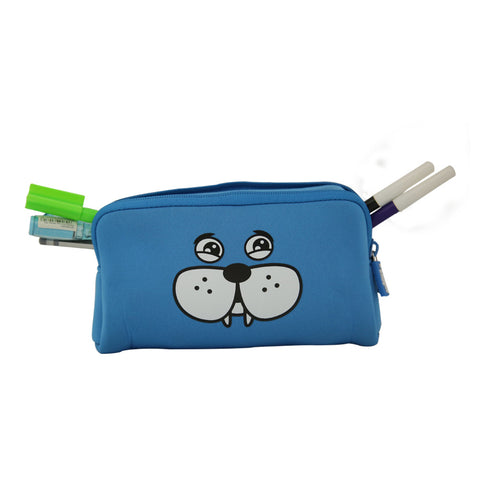 Image of Fancy Puppy Pencil Case Blue