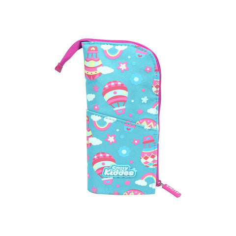 Smily Pen Holder Case Light Blue