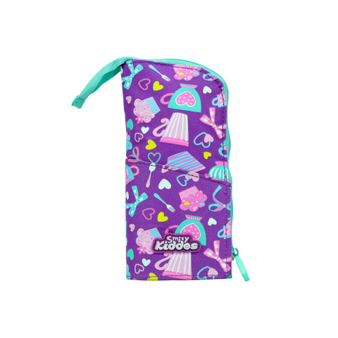 Smily Pen Holder Case Purple