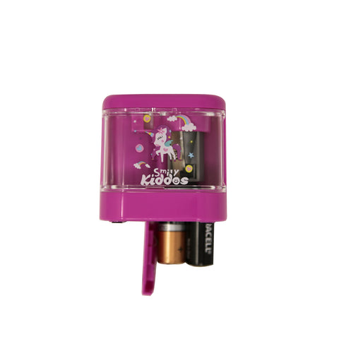Smily Mini Electric Sharpener Purple