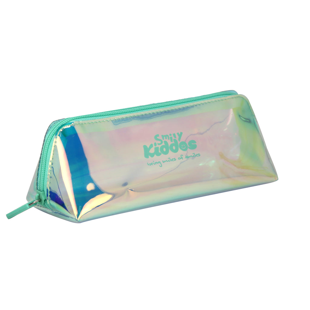 Smily Holograph Pencil Pouch Blue
