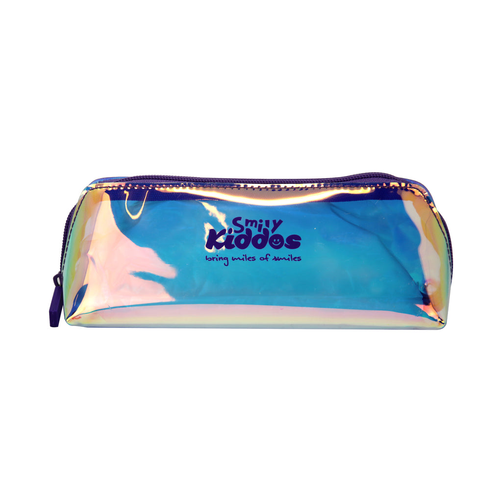 Smily Holograph Pencil Pouch Violet