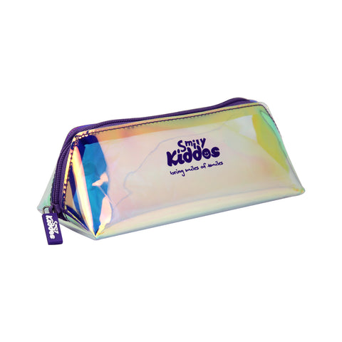 Image of Smily Holograph Pencil Pouch Violet