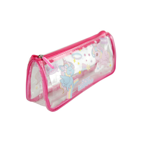 Image of Smily Unicorn Transparent Pencil Pouch
