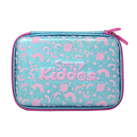 Image of Smily Bling Pencil Case Light Blue