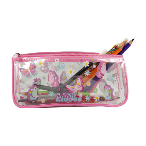 Image of Smily Butterfly Transparent Pencil Pouch