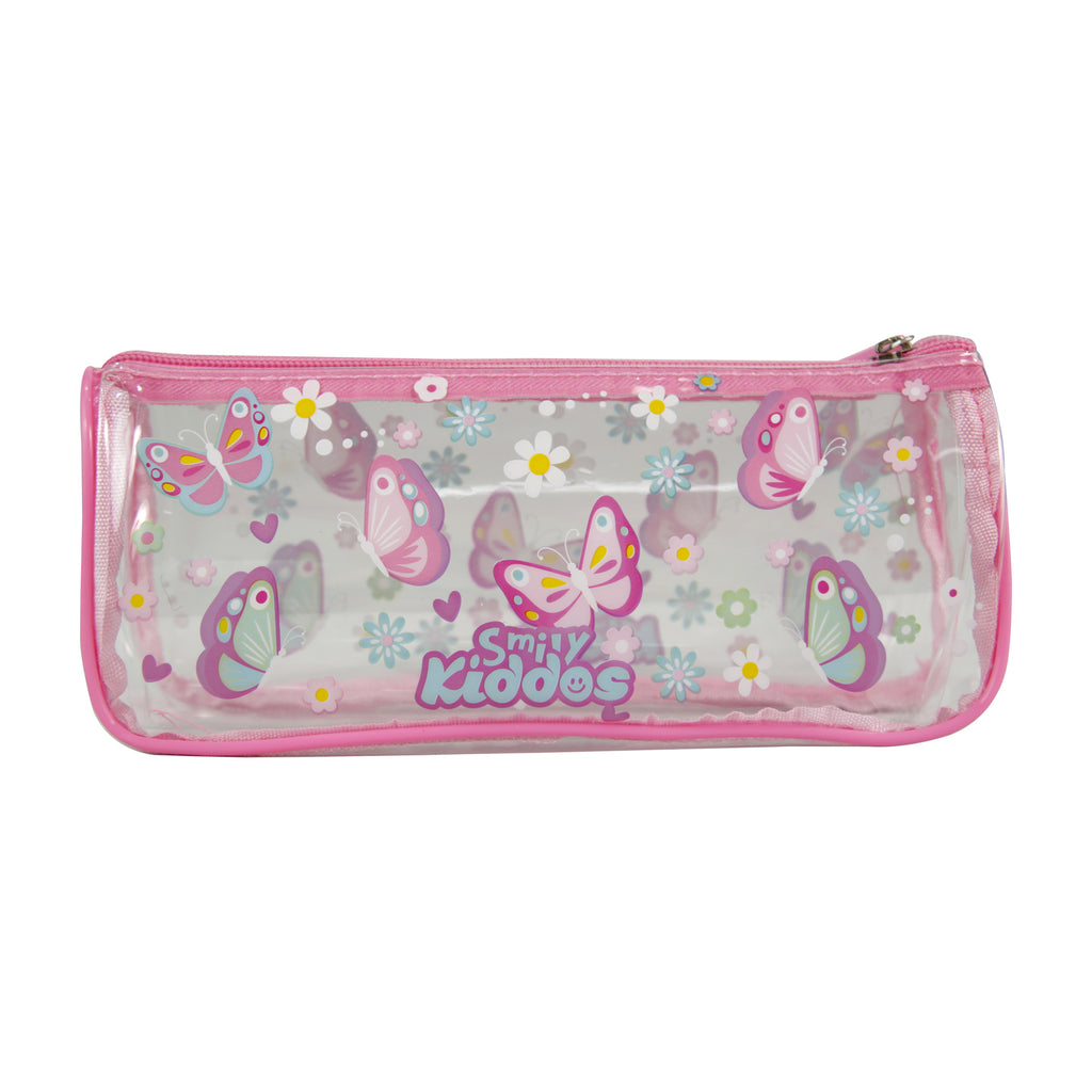 Smily Butterfly Transparent Pencil Pouch