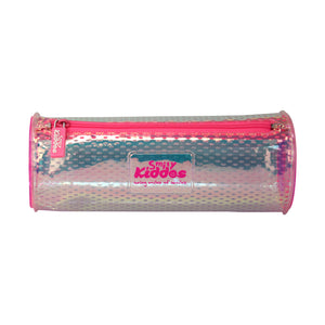 Smily Glossy Pencil Pouch Pink