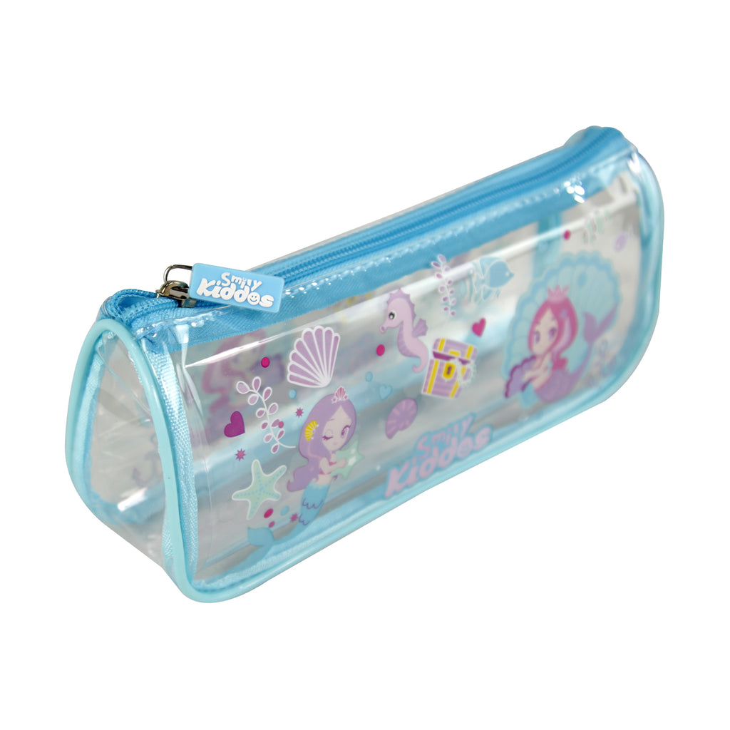Smily Mermaid Transparent Pencil Pouch