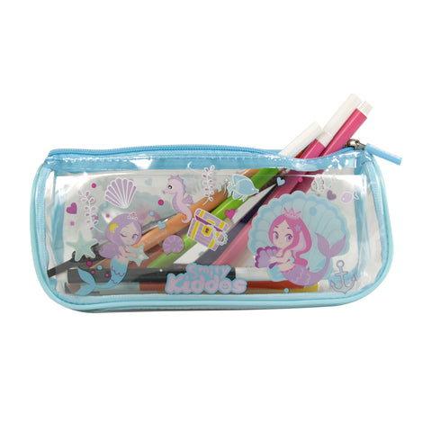 Image of Smily Mermaid Transparent Pencil Pouch