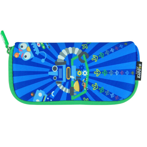 Image of Smily Mini Pencil Pouch Blue